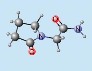 Piracetam molekule